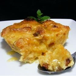 Panettone Bread Pudding with Spiced Orange Sauce