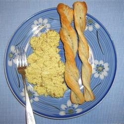 Creamy Curried Scrambled Eggs