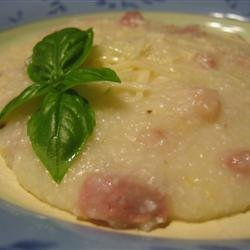Grits With Parmesan and Prosciutto