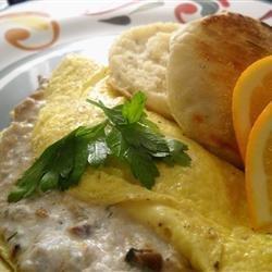 Tuna Cream Cheese Omelet