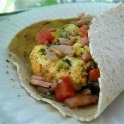 Egg Pesto Breakfast Wrap