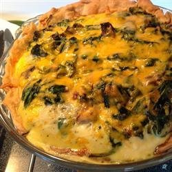Spinach and Mushroom Quiche with Shiitake Mushrooms