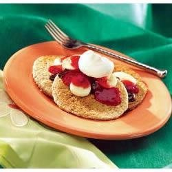 Banana Split Oat Bran Pancakes