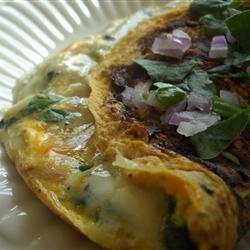 Blue Mushroom Omelet recipe