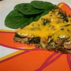 Garlicky Ham, Mushroom, and Spinach Frittata