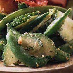 Sugar Snap Pea and Cucumber Salad
