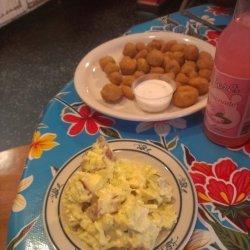 Fried Okra and Potato Salad