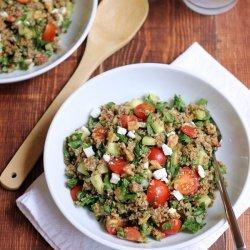 Bulgur Salad with Cucumber and Tomato