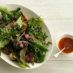 Grilled Steak Salad with Tomato Vinaigrette recipe