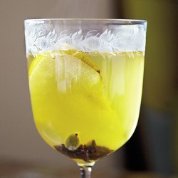 Mulled White Wine with Pear Brandy recipe