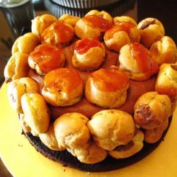 Chocolate And Passion Fruit Profiterole Cake