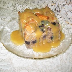 Apple Bread Pudding With Bourbon Maple Sauce