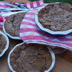 Fudge Brownie Pie With Hot Fudge Sauce