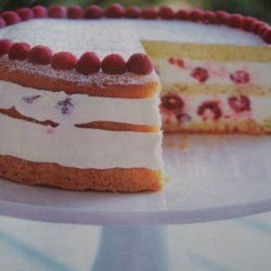 Raspberry Lemon Cream Cake