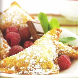 Raspberry Chocolate Wontons recipe