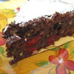 Chocolate And Cherry Polenta Cake recipe