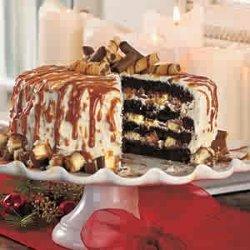 Cheesecake Stuffed Dark Chocolate Cake