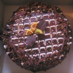 Almond-orange Sponge With Chocolate Ganache Icing