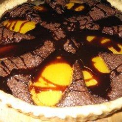 Chocolate Mango And Almond Tart