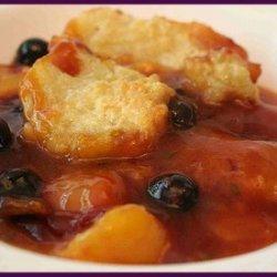 Lanas Peach-apricot-blueberry Cobbler
