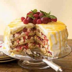 Cheesecake Stuffed Lemon Cake