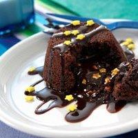 Midnight Molten Brownie Cupcakes