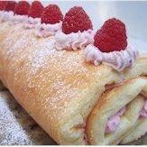 Raspberry Sponge Cake Roulade