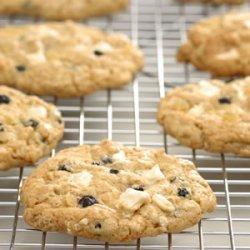 White Chocolate Cherry Ginger Cookies