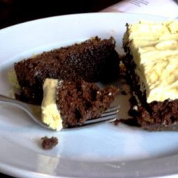 Fabulous Fudge Cake With Lickity Lemon Butter Crea...