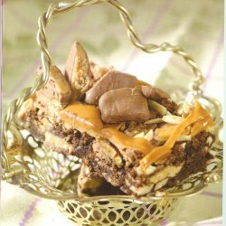 Toffee -almond Turtle Bars