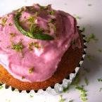 Lime Cupcakes With Prickly Pear Frosting