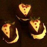 Strawberry Tuxedo Cupcakes