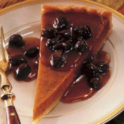 Pumpkin Tart With Caramel Rum Raisin Sauce