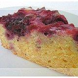 Upside Down Polenta Cake