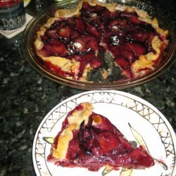 Open-faced Plum Tart