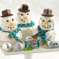 Snowman Chocolate Mint Cupcakes recipe