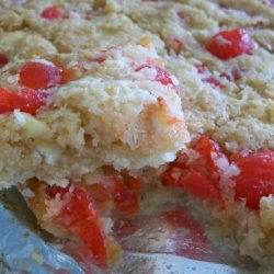 White Chocolate Maraschino Bars