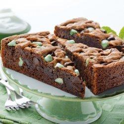 Mint Brownie Wedges recipe