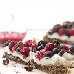 Patriotic Choco-berry Meringue Dessert