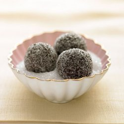 Chocolate Champagne Truffles In Sparkling Sugar