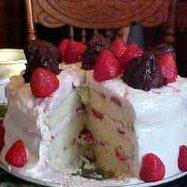 Spectacular Strawberry Mousse Cake