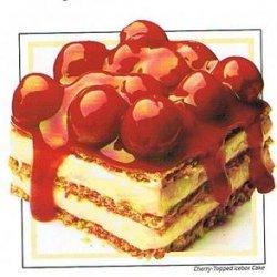 Cherry-topped Icebox Cake recipe