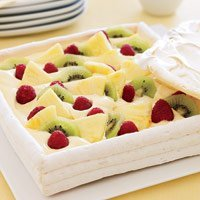 Meringue Box With Amaretto Cream And Fruit