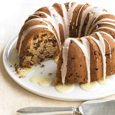 Glazed Pecan Raisin Cake