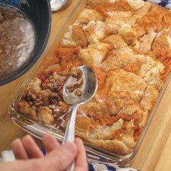 Sweet Potato Bread Pudding With Praline Sauce recipe