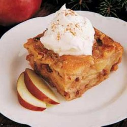 Fruit  And  Nut  Bread Pudding With Butterscotch S...