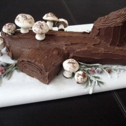 Kahlua Christmas Yule Log Cake