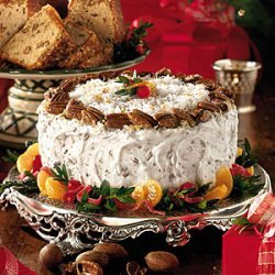 Fresh Orange Curd Italian Cream Cake