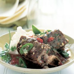 Beef Short Ribs in Chipotle and Green Chili Sauce