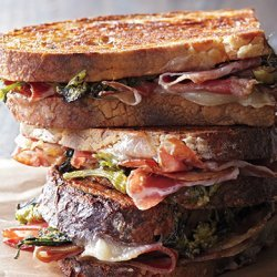 Pressed Coppa Sandwiches with Broccoli Rabe Pesto recipe